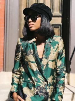 Zara Printed Suit Blazer
